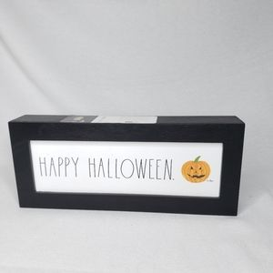 NEW Rae Dunn HAPPY HALLOWEEN Wooden Sign